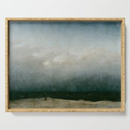 Caspar David Friedrich - The Monk by the Sea Serving Tray