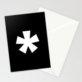 Asterisk (White & Black) Stationery Cards