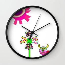 Rolf and the purple sun Wall Clock