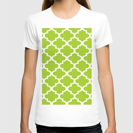 Arabesque Architecture Pattern In Lime T-shirt
