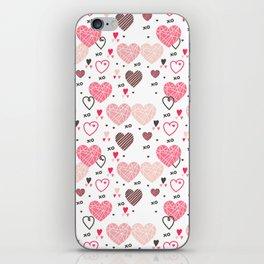 Valentine's hearts seamless pattern iPhone Skin