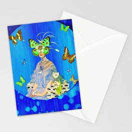 Madame Blue-Terfly  Stationery Cards