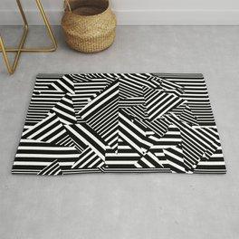 Dazzle Camo #01 - Black & White Rug