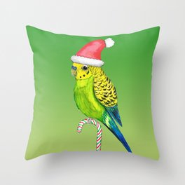Budgie Christmas style Throw Pillow