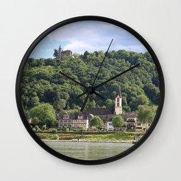 Burg Osterspai am Rhein Wall Clock
