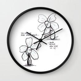"""Easily Discouraged"" Flowerkid Wall Clock"