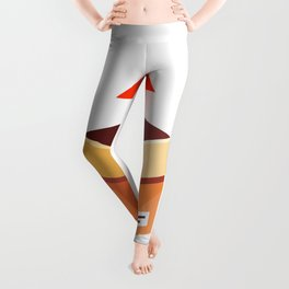 Take Parcel Up From Cardboard Box Flat Illustration Isolated Leggings