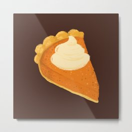Pumpkin Pie Slices Metal Print