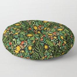 Sunshine Botanical - Dark Version Floor Pillow