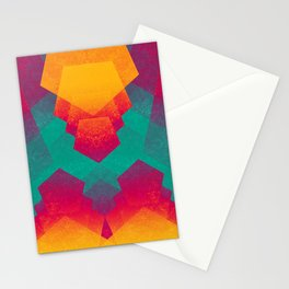 Pentagon Vibrancy Stationery Cards