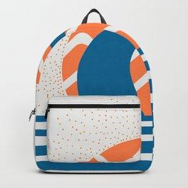 Hang Loose Wave // Sun Surfer Shaka Beach Retro Graphic Design Horizontal Daze Waves Backpack