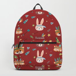 Woodland Red  Backpack