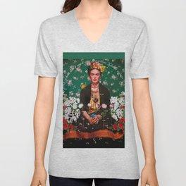 Wings to Fly Frida Kahlo Unisex V-Neck