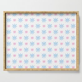 stars 93- blue and pink Serving Tray
