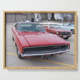 Vintage 1968 Torred MOPAR 426 Hemi Charger Muscle Car Color photography / photographs Serving Tray