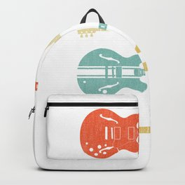 Guitar Player Retro Classic music lover Backpack