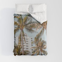 palm trees vii / miami beach, florida Comforters