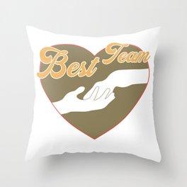 Cooles Pferde Shirt - Bestes Team Pferd + Mensch Throw Pillow