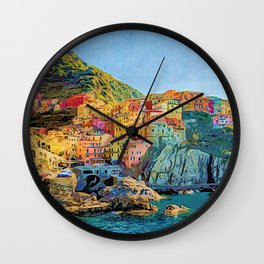 Cinque Terre, Italy | Painting Wall Clock