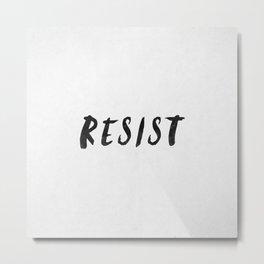 RESIST 4.0  #resistance Metal Print