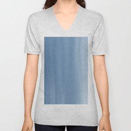 Blended Blue Ombre Unisex V-Neck