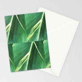 Modern Leaf Tiles Stationery Cards
