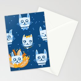 Cats classic blue Stationery Cards
