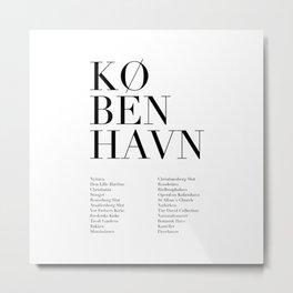 København Metal Print