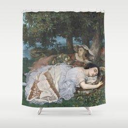 Gustave Courbet - Les Demoiselles des bords de la Seine Shower Curtain