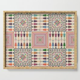 Palestinian embroidery pattern Serving Tray