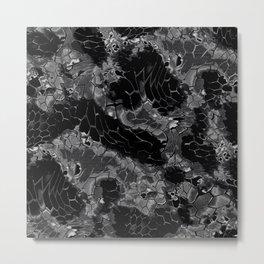 black dragon scales camouflage Metal Print
