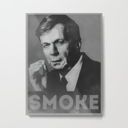 Smoke! Funny Obama Hope Parody (Smoking Man)  Metal Print