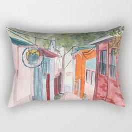Korean Street Watercolor Illustration Rectangular Pillow