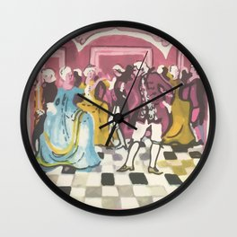 18th century dance Wall Clock