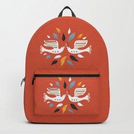 Festive doves - folk illustration Backpack