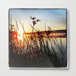 Sunrise on Long Lake Metal Print