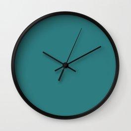 Simply Solid - Greenish Blue Wall Clock