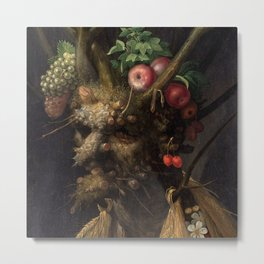 Giuseppe Arcimboldo - Four Season's in One Head Metal Print
