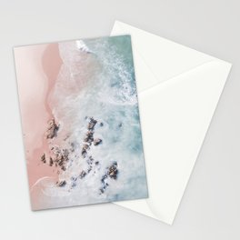 Sea Bliss - aerial beach photography by Ingrid Beddoes Stationery Cards