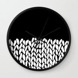 Half Knit  Black Wall Clock