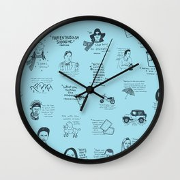Gilmore Girls Quotes in Blue Wall Clock