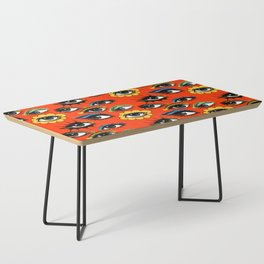 60s Eye Pattern Coffee Table