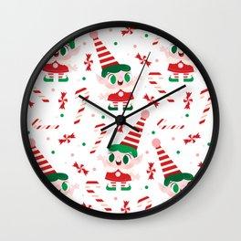 Pepperming Elves Wall Clock