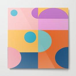 Blocks Shapes Metal Print