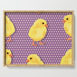 Chiken pattern Serving Tray