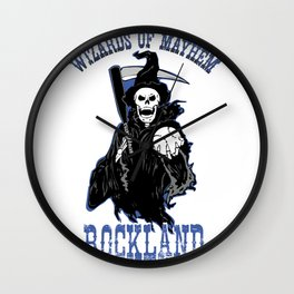 Wizards of Mayhem Logo Wall Clock
