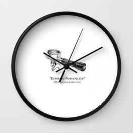 Espresso Portafilter Wall Clock