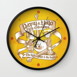 Penny & Yollo - Party Entertainers Wall Clock