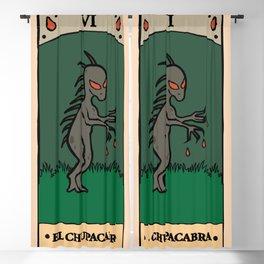 El Chupacabra - Cryptid Tarot Card Blackout Curtain