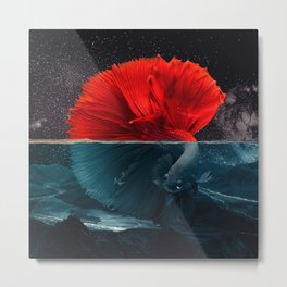Red Siamese Fighting by GEN Z Metal Print